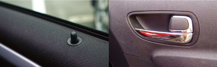 開閉の仕組みを考えられた車のドア